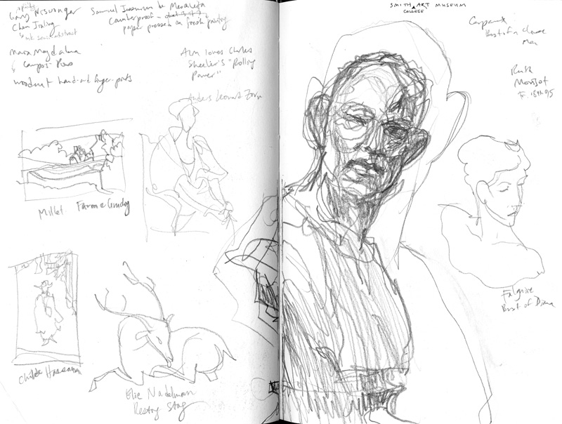 sketches from the Smith Art Museum