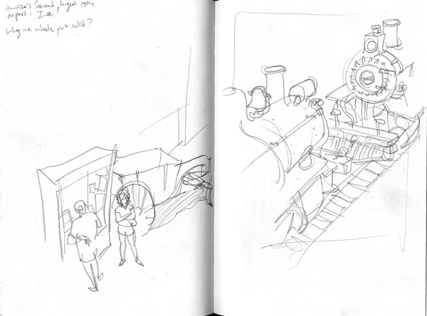 Sketches from the Train Museum