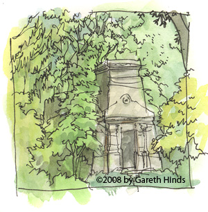 Mt. Auburn - monument in the trees