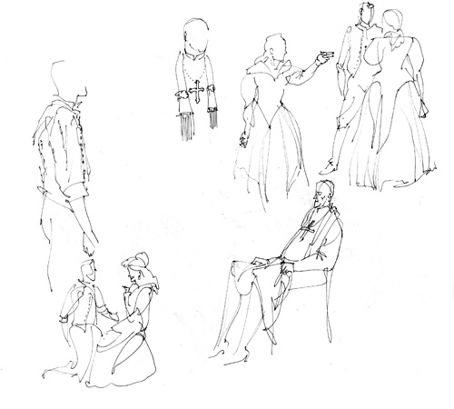 ASP's The Duchess of Malfi - sketches by Gareth Hinds