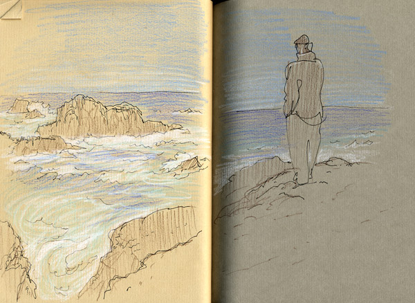 San Francisco sketches by Gareth Hinds