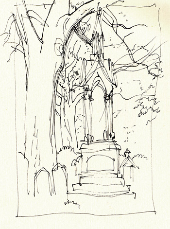 Mt Auburn Sketch by Gareth Hinds