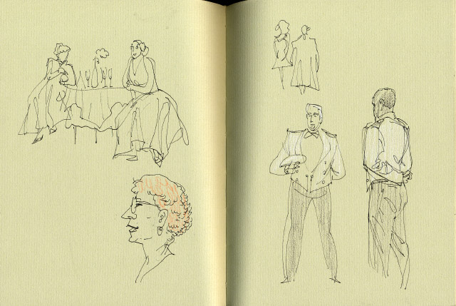 Sketch of ASP's Much Ado by Gareth Hinds